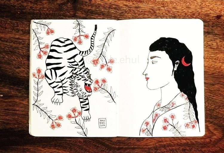 nice trip Japan - ilustration, illustrator - magdalena_ehul | ello