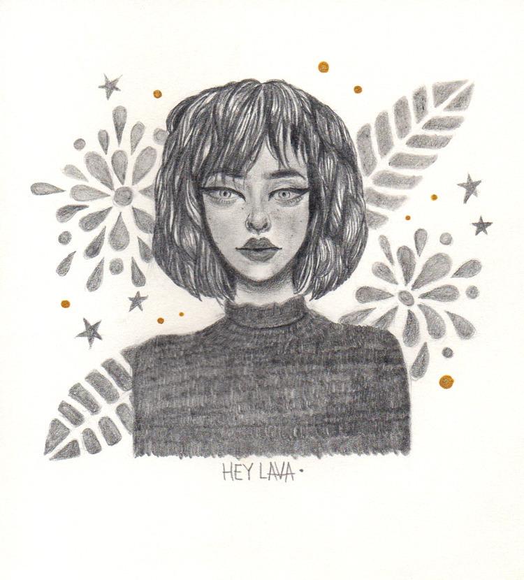 'Stranger girl plants motive' P - heylava | ello