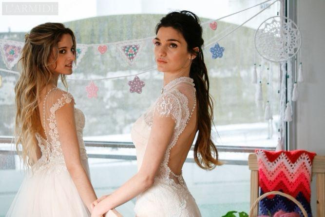 Izquierda: Vestido de Novia Ana - larmide | ello