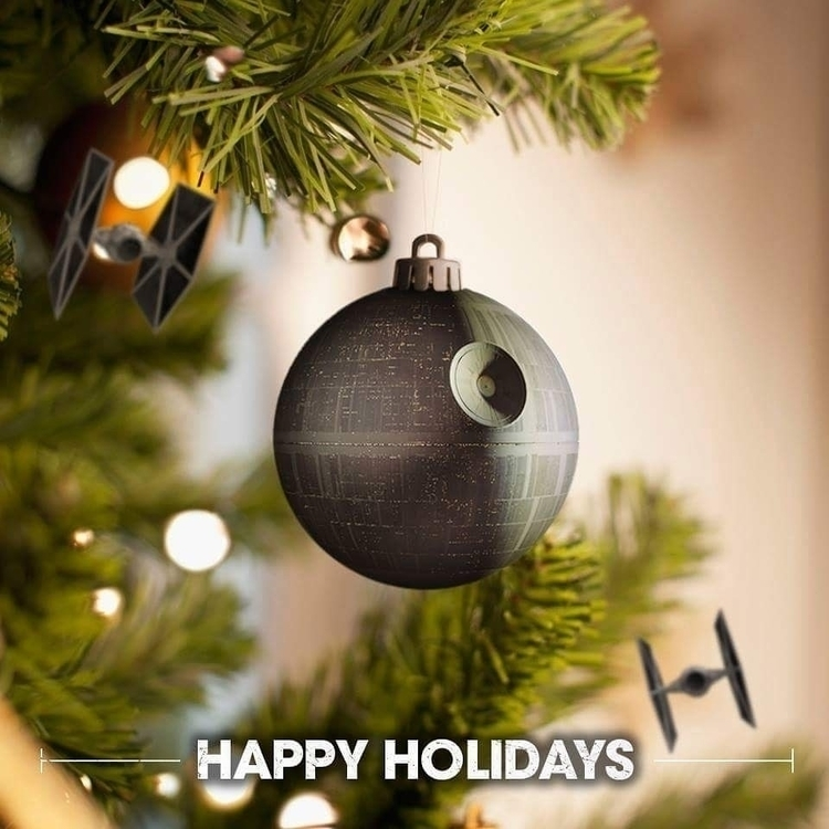happyholidays, merrychristmas - spacemonster | ello