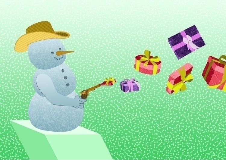 Pow-Wow!! Mister snowman aiming - ellis__d | ello
