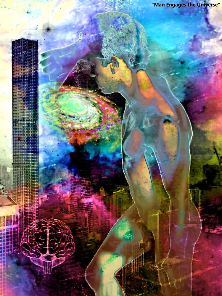 Man Engages Universe Fantasies  - greycrossstudios | ello