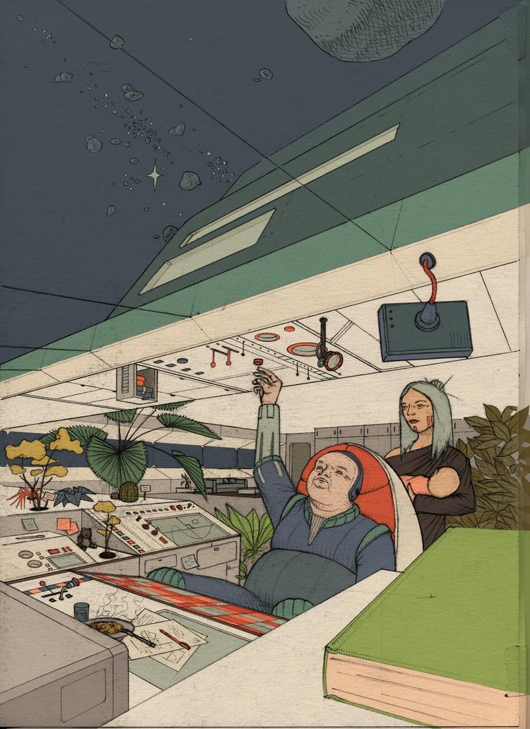 ! people spaceship - illustration - 3-3-3 | ello