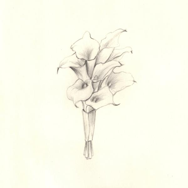 departed - lillies, drawing, sketch - j0eyg1rl   ello