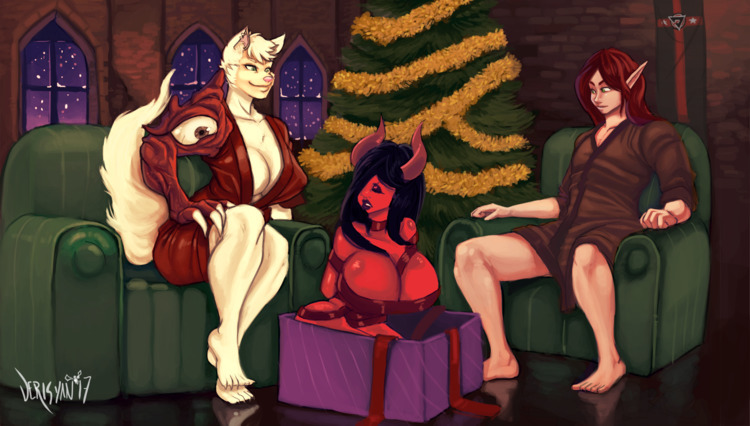 merry christmas! YCH Character  - derisyandraws   ello