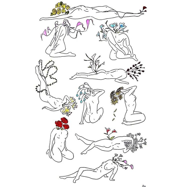Pollinate - art, ink, minimalist - alexsappy | ello