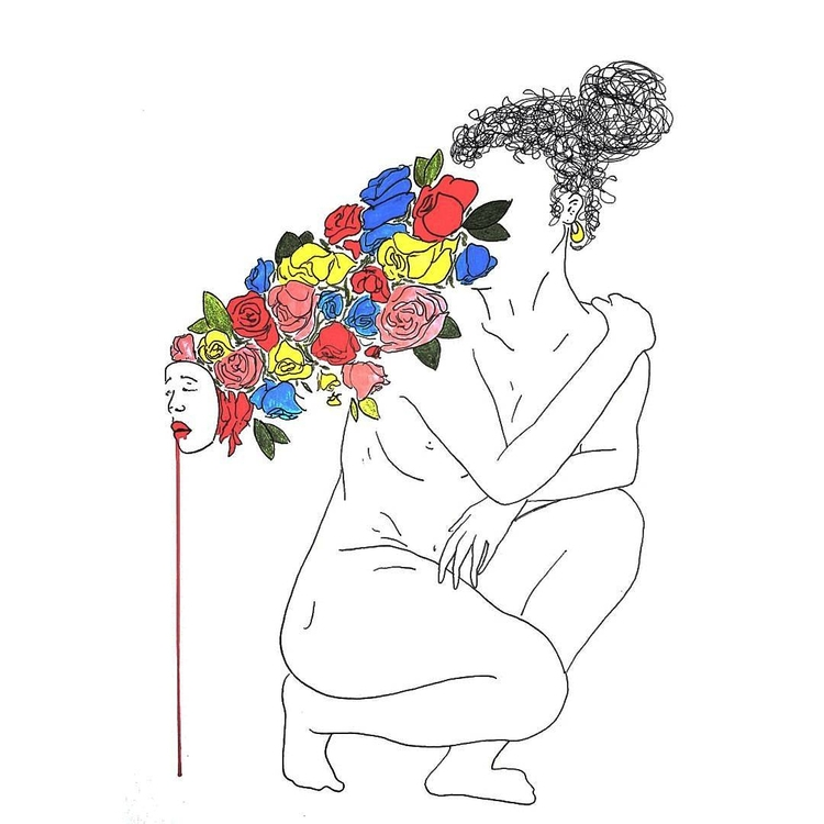 Aphrodisiac - art, ink, flowers - alexsappy | ello