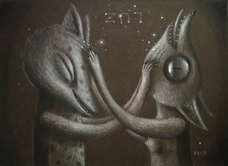 light Graphite cardboard Privat - peca-art | ello
