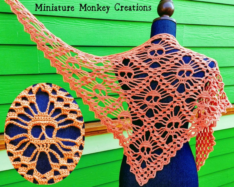 stock ready ship Skull Shawl sp - miniaturemonkeycreations | ello