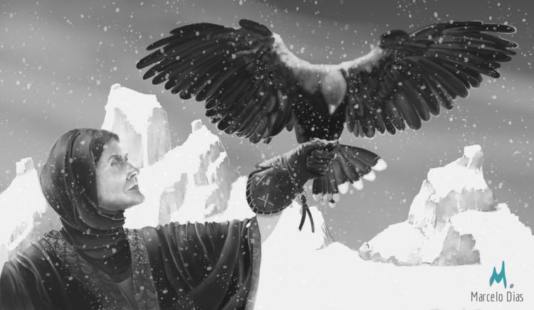 WITCH MAGIC HAWK Krita - Graphicdesign - marcelo_d | ello