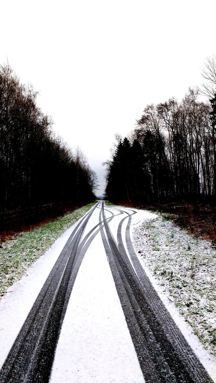 snow, scotland, tyretracks, tiretracks - firehorsetextiles | ello