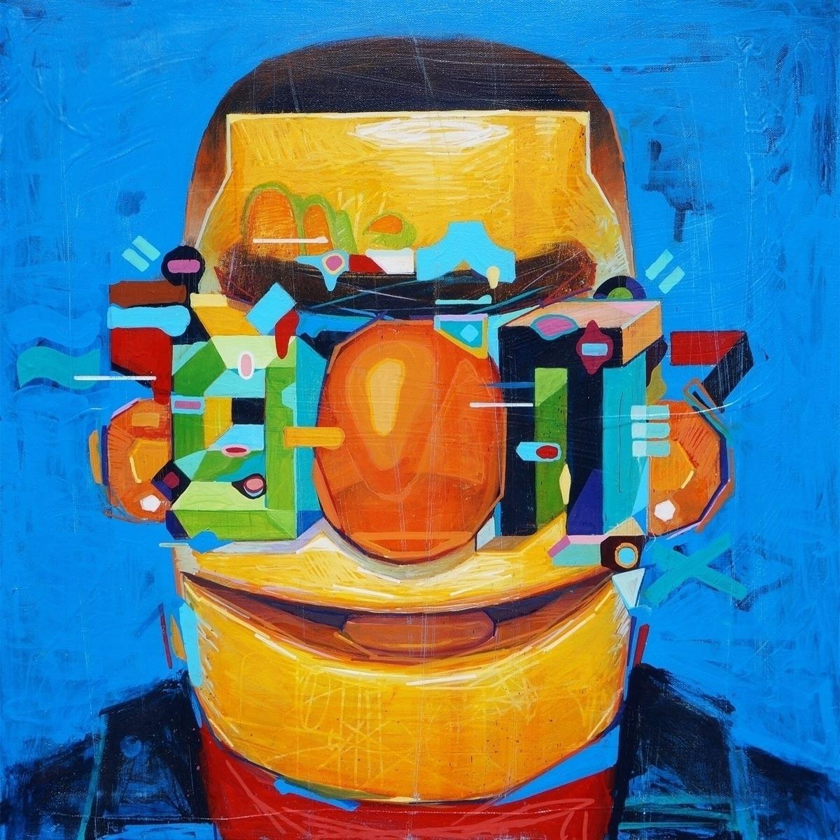 Bert reinterpreted - painting, elloart - samrodriguezart | ello