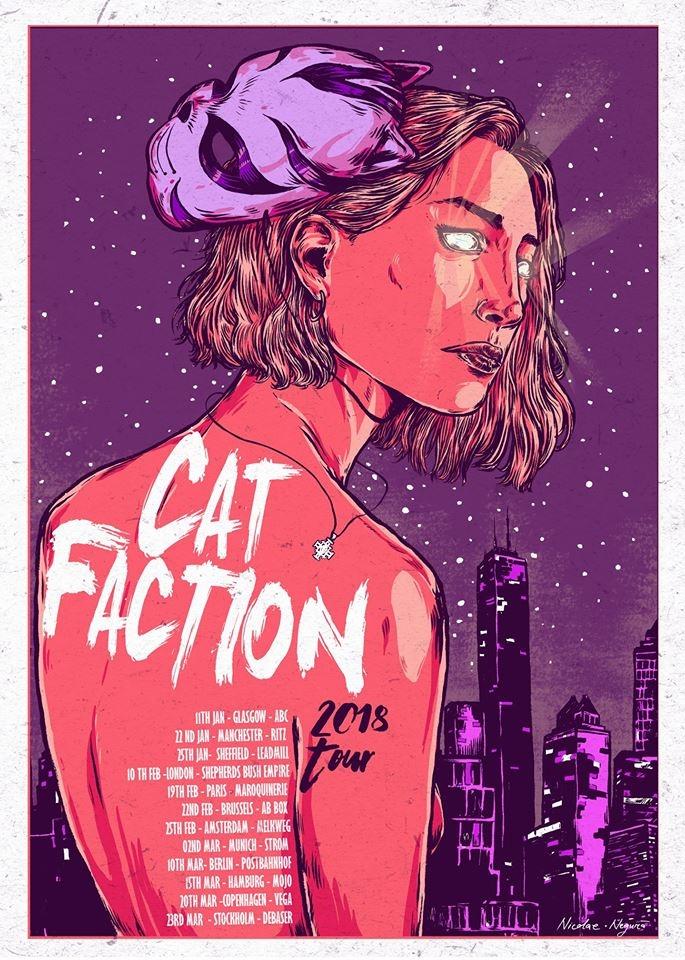 Cat Faction fake indie band pos - nicolaenegura | ello