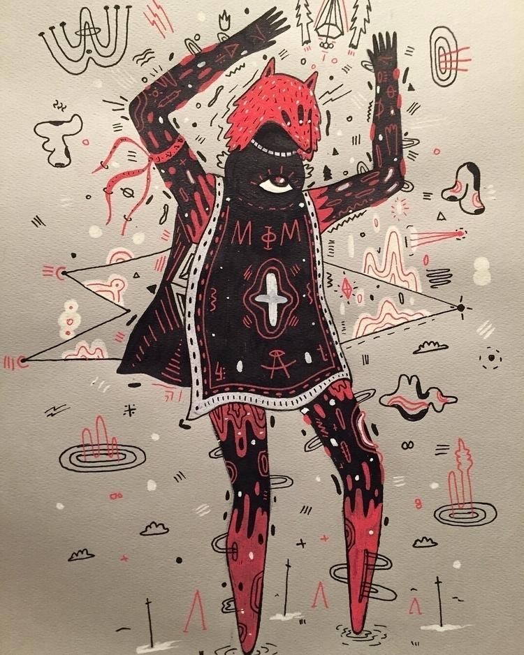 illustration, drawing, shaman - galekto   ello