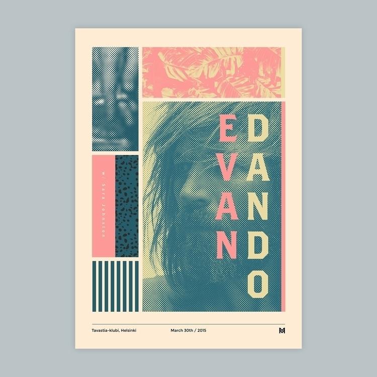 Gig poster project - Evan Dando - mcinen | ello