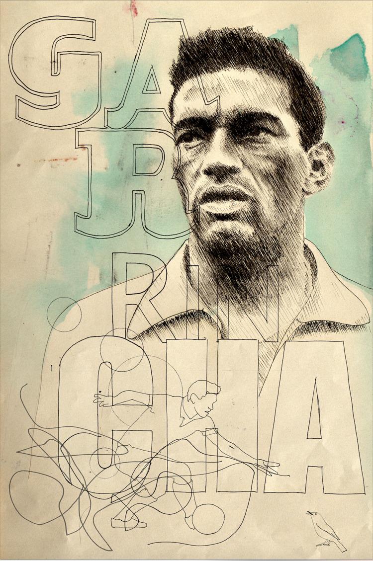Mané Garrincha Ink paper, 2017 - daviddiehl | ello