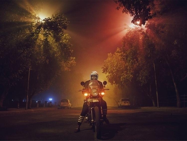 road - night, drive, light, shadow - riazhassan | ello