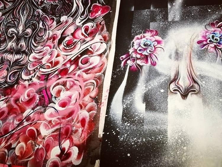 Floaty floral cosmos portraits - femsorcell   ello
