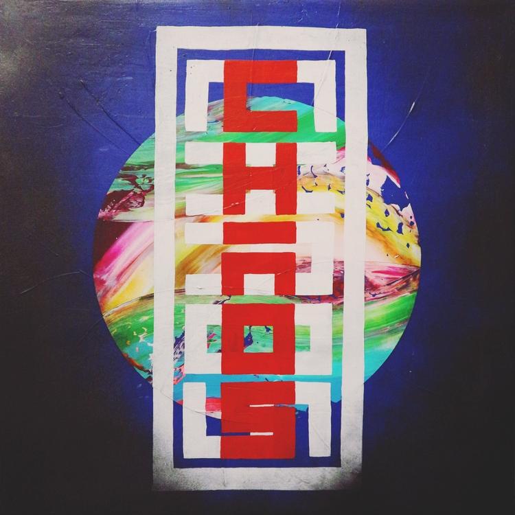 """CHAOS"" Acrylic canvas, 50 cm,  - nishe_ink | ello"