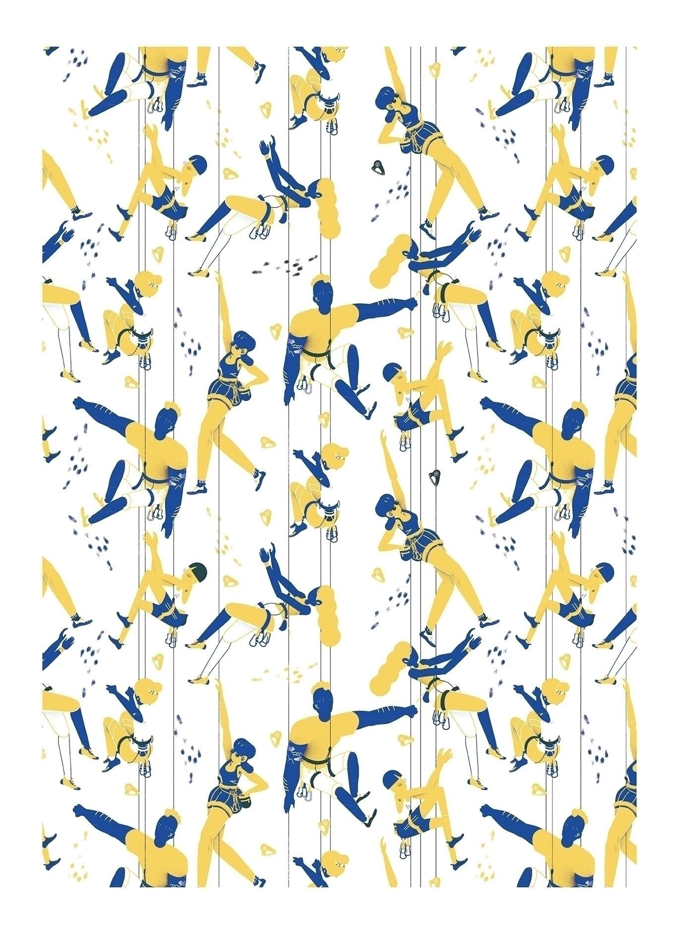 climbers Pattern 42x59cm Silk S - alvz_motion | ello