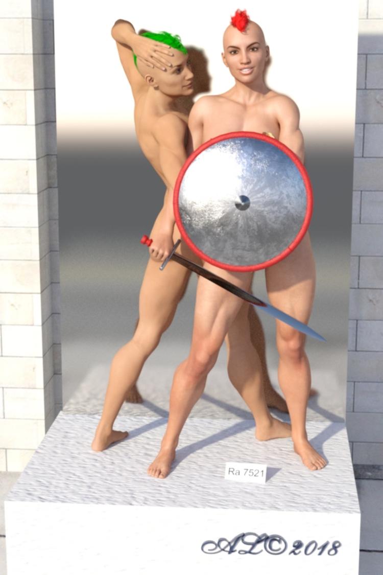nude, fighter, nordian, art, museum - franklange | ello