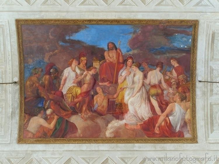 Milan (Italy): Fresco ceiling G - milanofotografo | ello