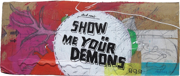 showmeyourdemons / mixed media  - atzeanalogue | ello