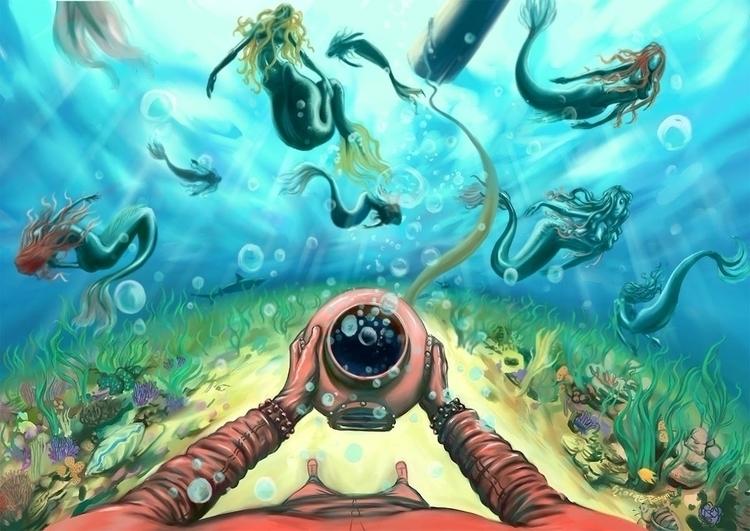 o2 mermaids. raise awareness oc - ofgiorge | ello