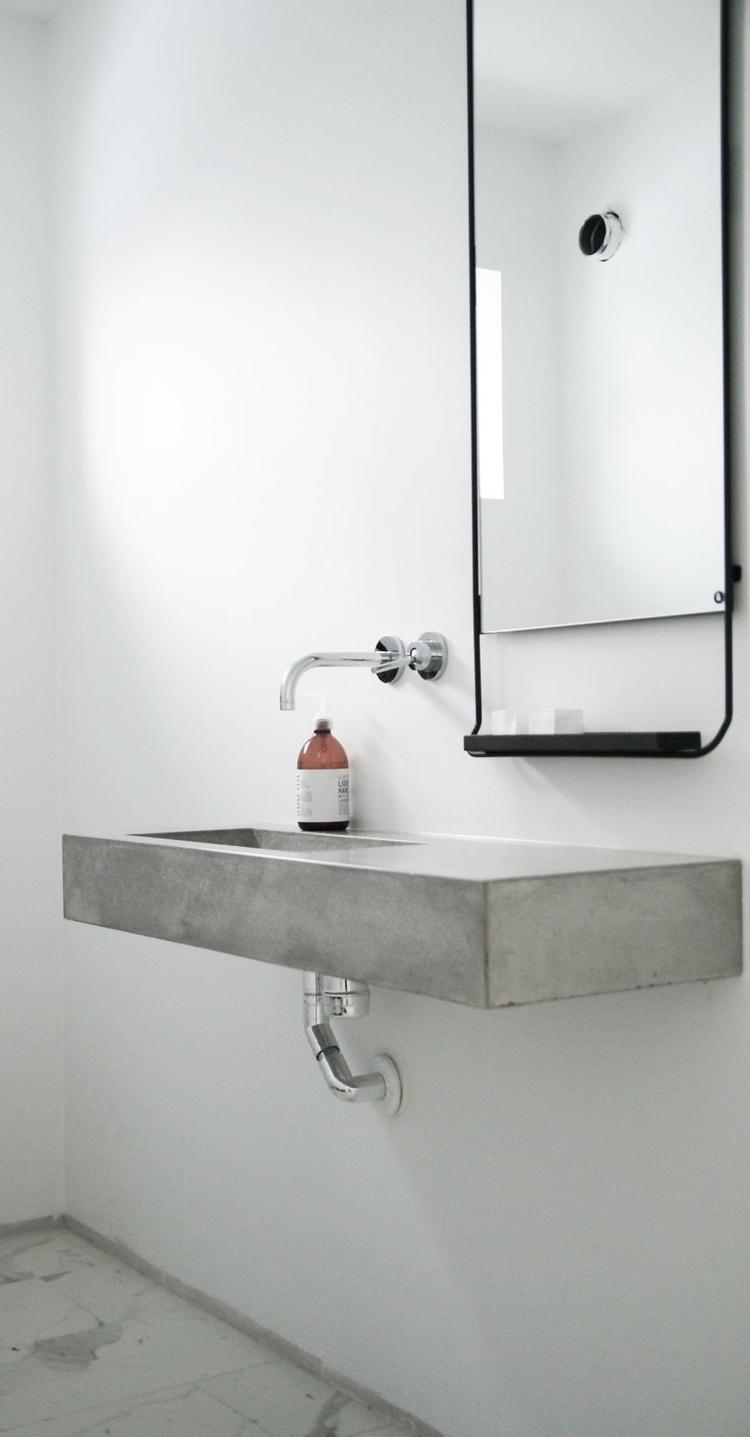 Floating concrete sink. Guest t - upinteriors | ello