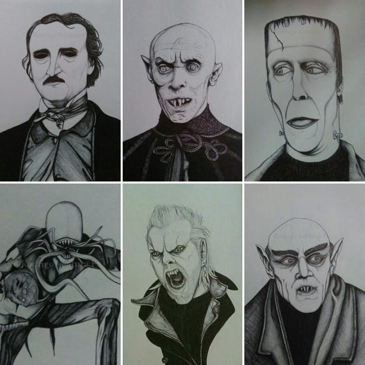 illustrations - countorlok, nosferatu - arodrigovp | ello