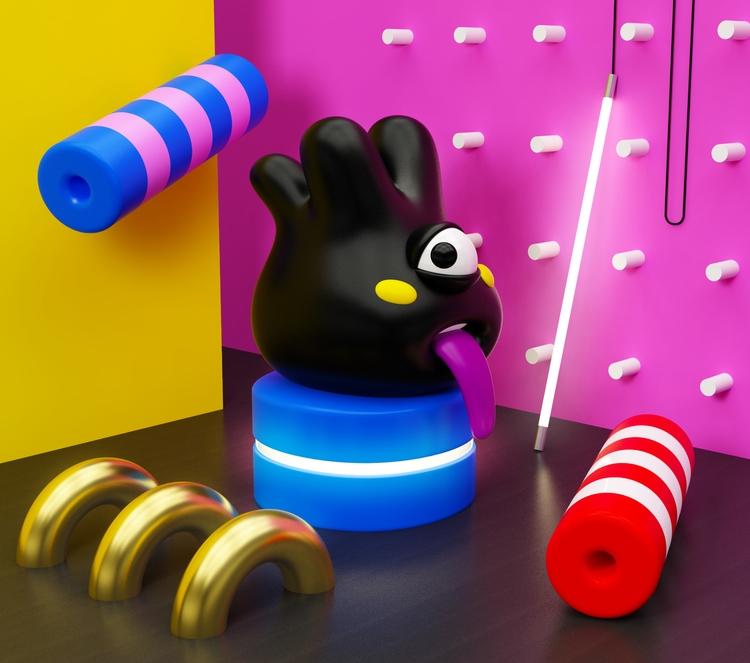 Monster + stuff food - 3D, monster - oscarasecas | ello