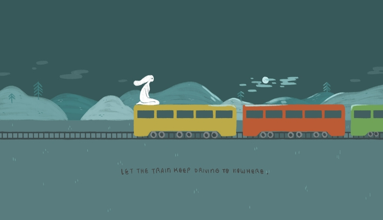 train driving - applecheeksart | ello