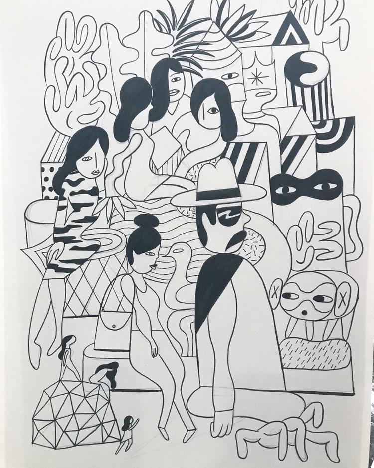 ink work playing - sketchbook, illustration - nickjeong | ello