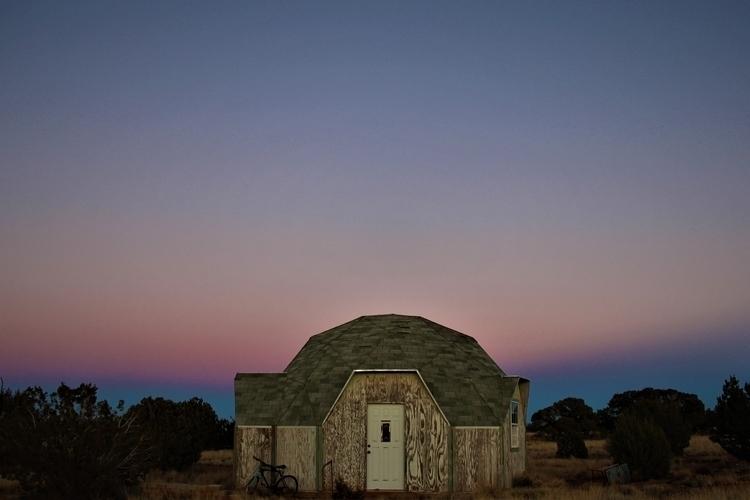 Abandoned Dome Home Sunset - photo - rachelnicole   ello