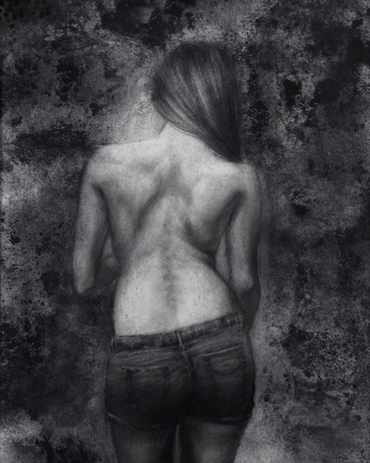 Ready Charcoal Panel 8x10 $350 - briannaleefineart | ello
