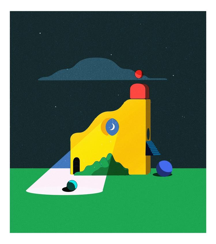 Vision, 2018 - art, illustration - esdanielbarreto | ello