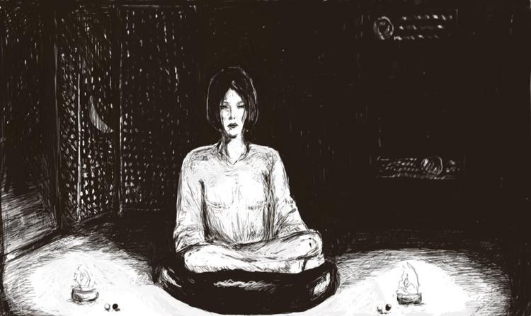 meditation . 2018 - art, drawing - dauntingr   ello