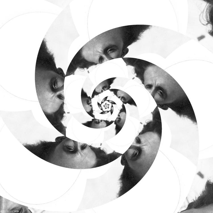 Eyeflower XII (2018). Spiral ét - retrocollage | ello