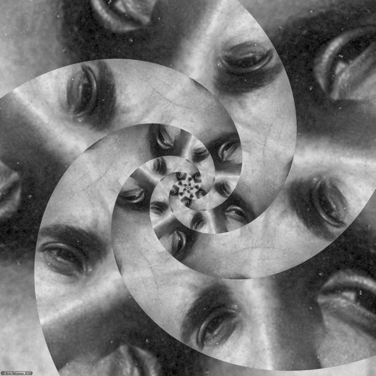 Eyeflower XVII (2018). Spiral é - retrocollage | ello