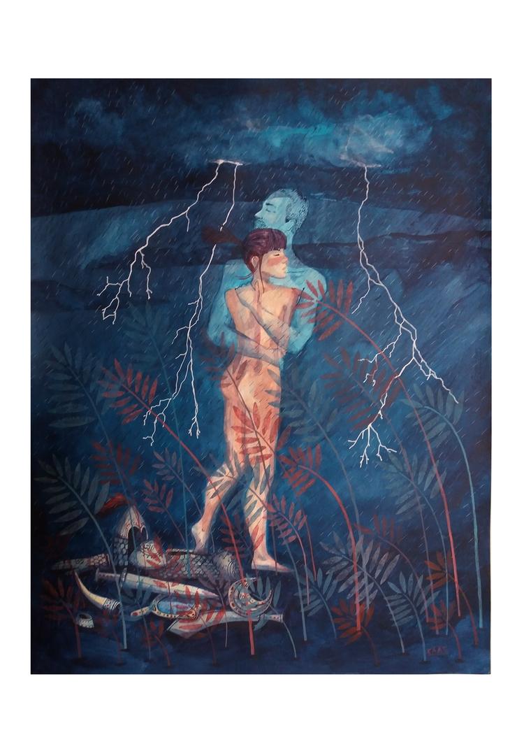 Illusion love. Acrylic paper. 5 - caatalataac | ello