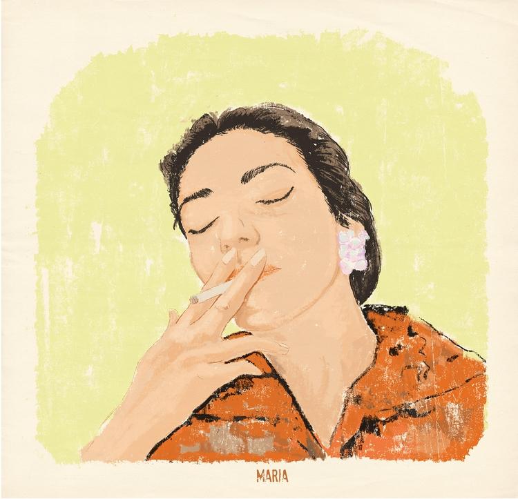 Maria - illustration, drawing, singer - zoe_vadim | ello