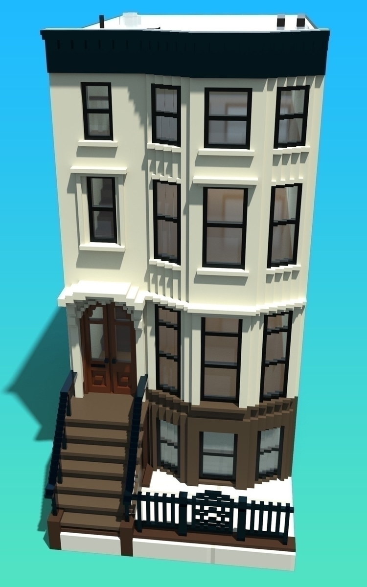 Voxel NYC brownstone game worki - capnslipp | ello