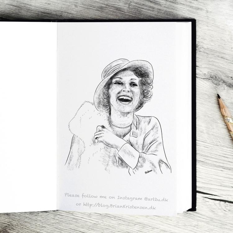 Pen Ink drawing Art2u.dk - Gitte - art2u | ello