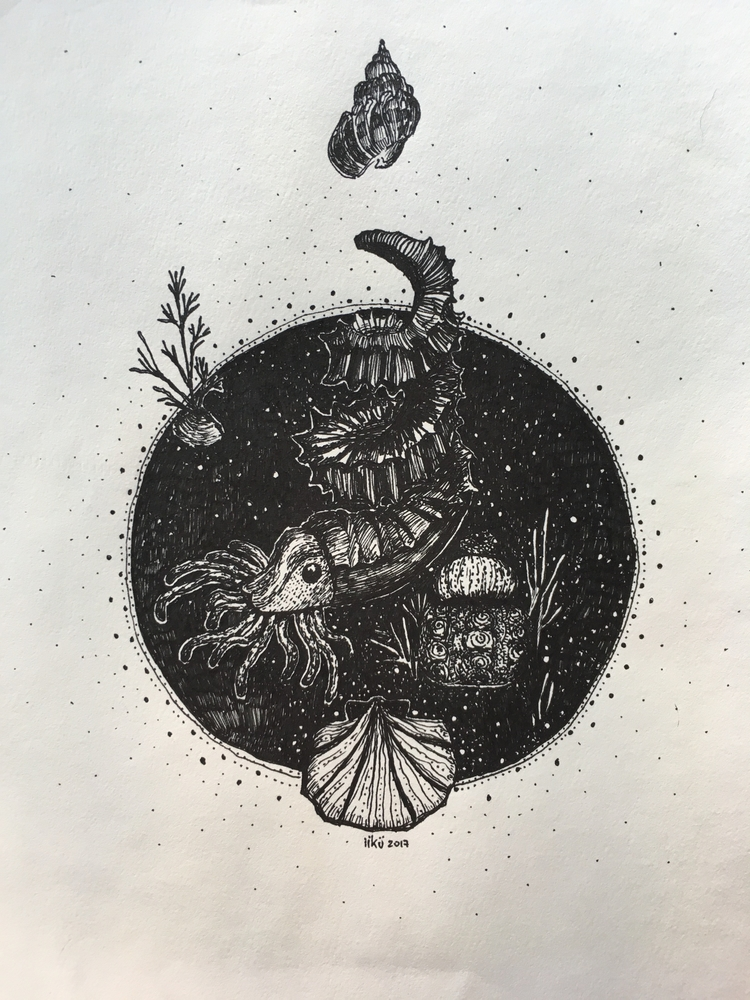 Space Whril, 2017 A4 Ink paper - iikuu | ello