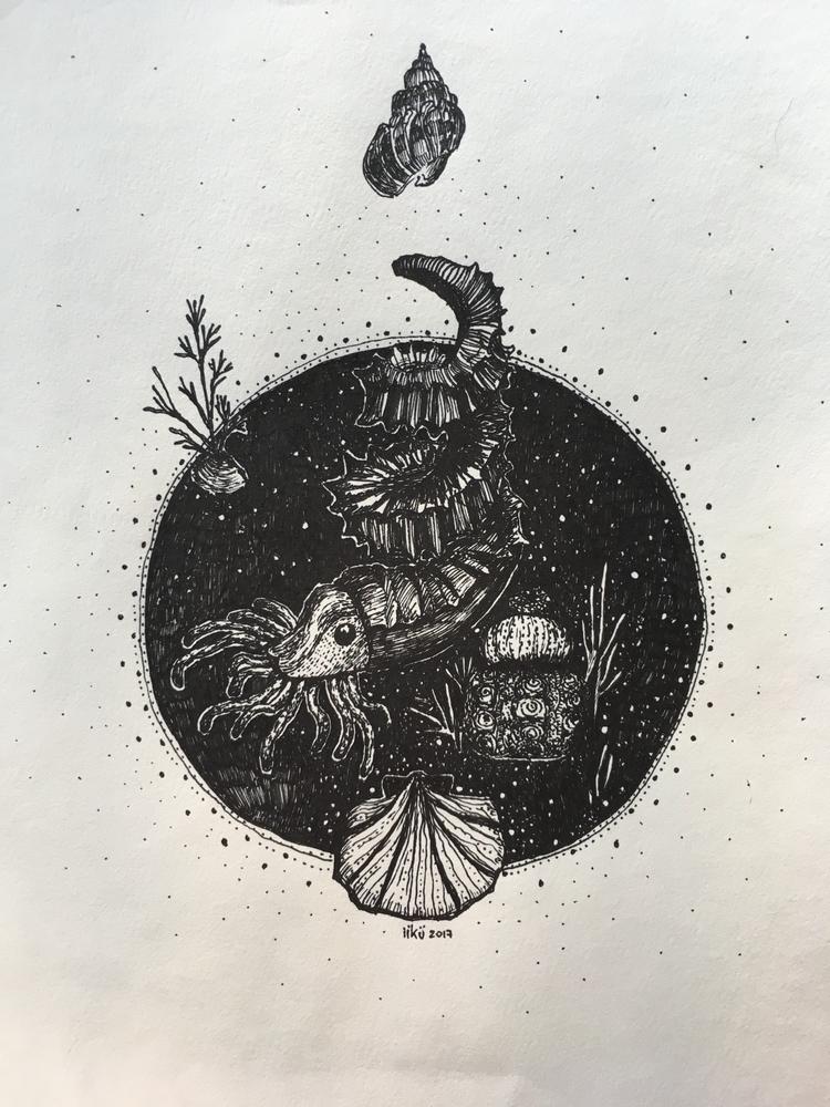 Space Whril, 2017 A4 Ink paper - iikuu | ello