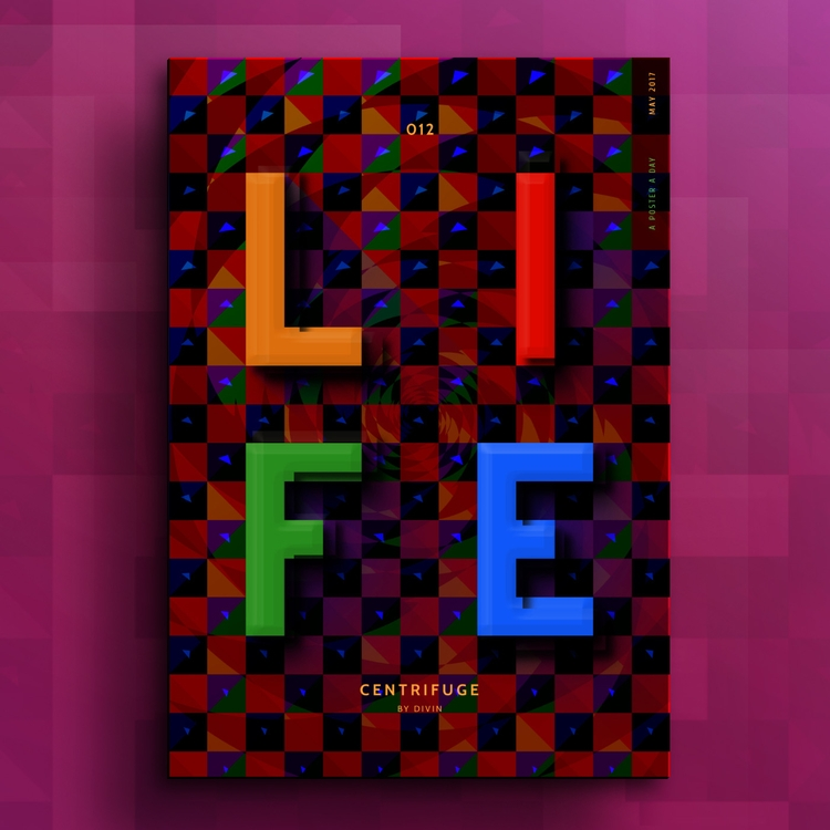 Life - celebrate, checkered, halftone - divincreador | ello