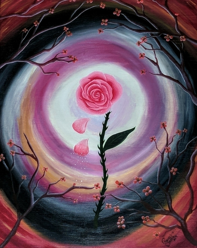 Rose Beauty oil painting canvas - kerastarrart | ello