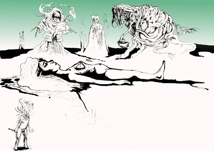 Sleep - sketches, inktober, kritaart - nikita_r | ello