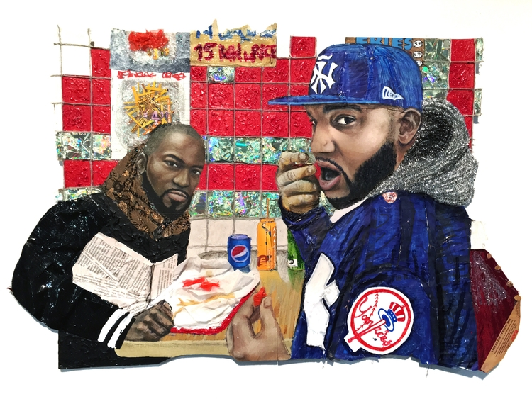 BODEGA BOYS Mixed media piece a - legniniart | ello