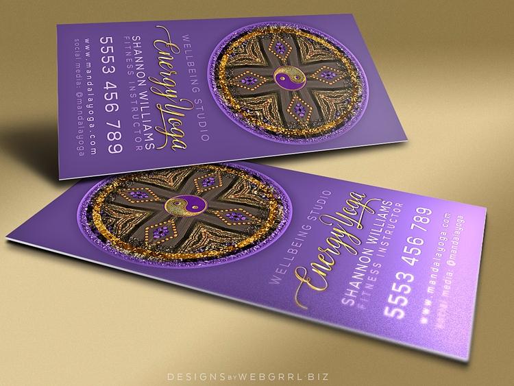 Purple Gold Mandala • Business  - webgrrlbiz   ello